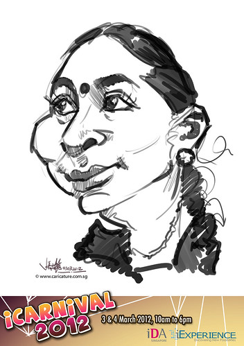 digital live caricature for iCarnival 2012  (IDA) - Day 1 - 101