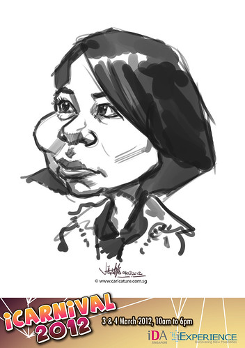 digital live caricature for iCarnival 2012  (IDA) - Day 2 - 52