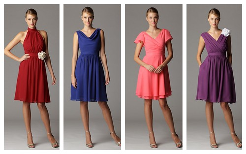 Pretty Non-Strapless Bridesmaids' Dresses by Nina Renee Designs