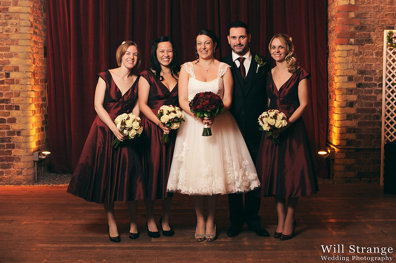 The bridal party at Vinopolis