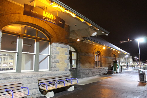 Guelph Central Station - Via Rail and GO Transit Together by Royal_Rivers
