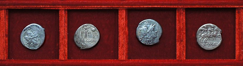 RRC 112 staff silver, Ahala collection, coins of the Roman Republic
