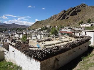 Paisagem em Shigatse Tibete