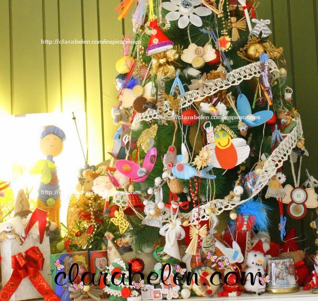 Árbol de Navidad  2012 Reciclaje, económico y original