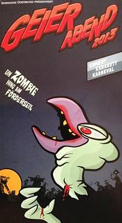 Geierabend 2012: Ein Zombie hing am Förderseil