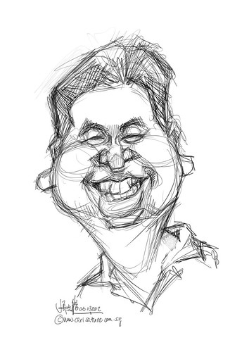 digital caricature of Sam for Hewlett Packard - 1