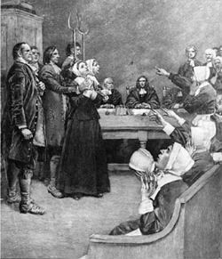 Salem witch trial engraving