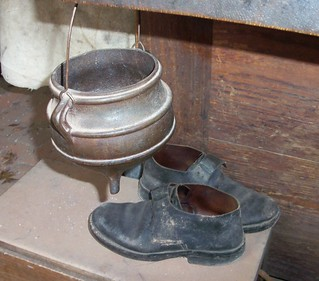 shoes and a pot