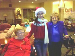 NAMiss California singing Chirstmas Carols to the Elderly