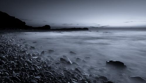 longexposure white seascape black beach sunrise rocks lakemacquarie nikkon 2470 chalkybeach