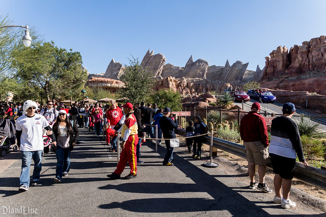 Holiday Crowds in Cars Land