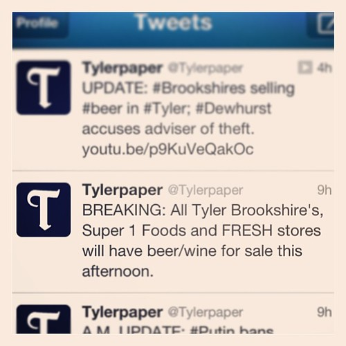 Dec 28, 2012 - breaking news in Tyler, y'all; it's the end of the world as we know it! #jk #soexcited