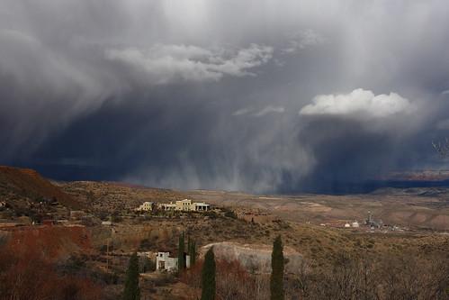arizona storm nature rain weather clouds jerome cloudscape jeromearizona therebeastormbrewin kerrprice
