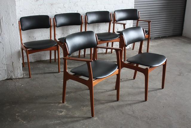 ***SNEAK PEEK*** Memorable Erik Buck Danish Mid Century Modern Teak Dining Chairs (O.D. Mobler, Denmark, 1960's)