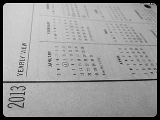2013 calendar planning
