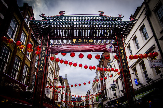 Now entering London's Chinatown.