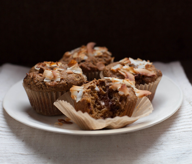 peanut butter chocolate chip (semi-virtuous) muffins