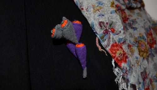 Crochet brooch- Poirot