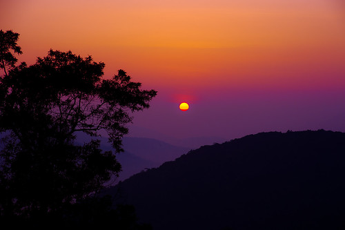 sunset sun color colors sunrise landscape malaysia cameronhighlands pahang 2012 sungai malaisie palas bohteaplantation bringchang
