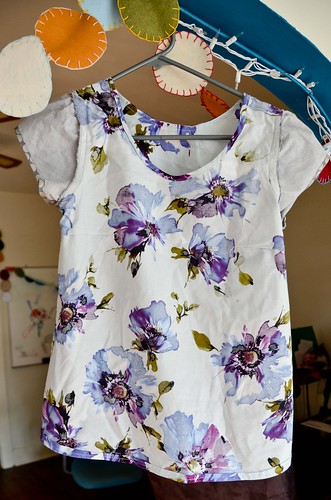 Sorbetto Top with Gathered Sleeves, Inside Out