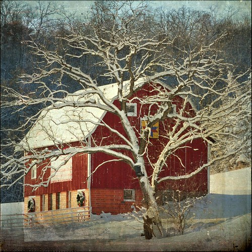 Red Barn at Christmastime