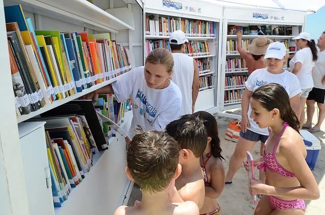 biblioteca praia