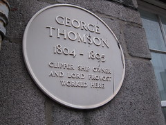 Photo of George Thompson yellow plaque