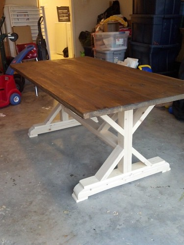 Kitchen table -- handmade by a friend, finished by me