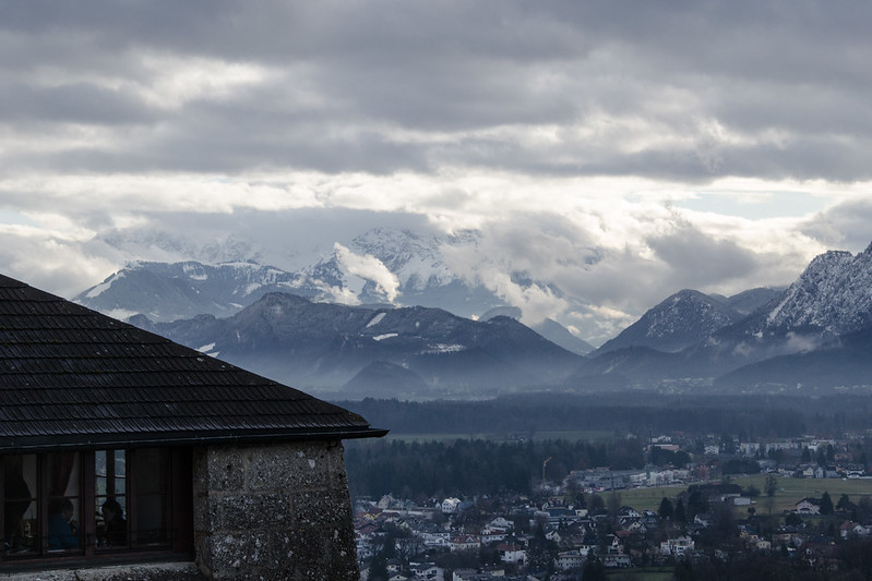 View of Alps from Hohensalzburg Castle