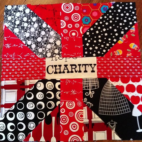 The Charity block. Next up kindness! by Scrappy quilts