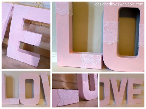 Vintage Lace Love Letters