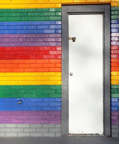 door blue red orange white green colors yellow grey rainbow violet kansas coffeyville