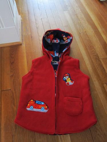 Fleece vest for Griff