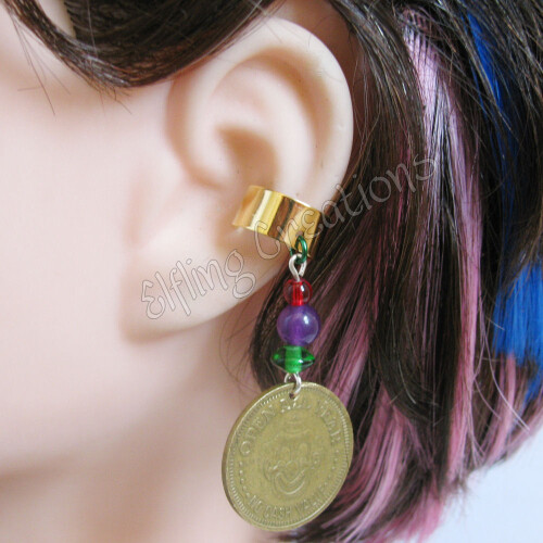 Circus Token Cartilage Ear Cuff