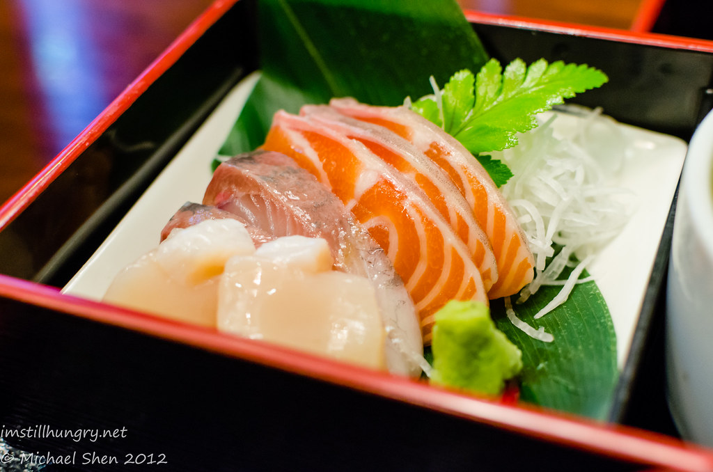 Suminoya - sashimi - salmon, sea beam