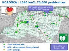 AED KOROŠKA 53 lokacij