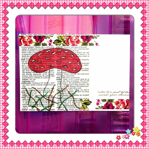 #mushroom #envelope #washitape #handdrawn