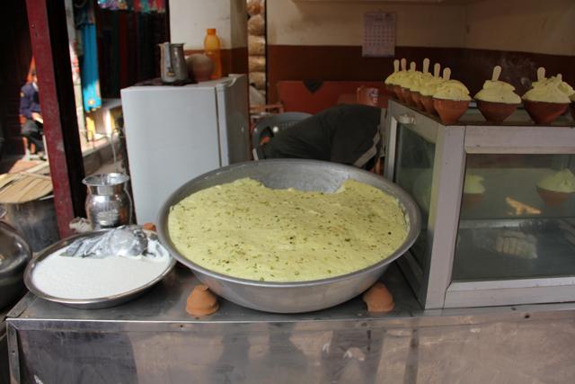 It's not hard to spot a vendor that serves maiyoo in Varanasi