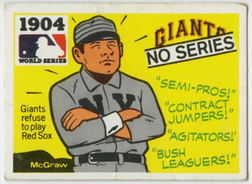 1971 Fleer World Series John McGraw