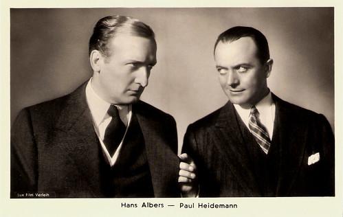 Hans Albers, Paul Heidemann