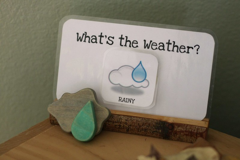 our home school weather lesson