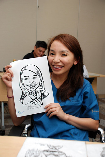 caricature live sketching for Khoo Teck Puat Hospital, Nurses' Day - 17