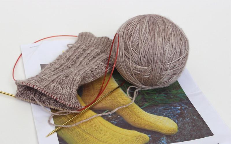 Basket Weave Rib Socks