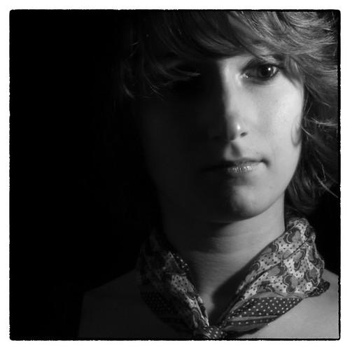 Portrait en noir et blanc recadré by Giga1475