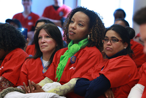 DC nurses pack auditorium Monday to show support for Patient Protection Act