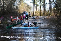 2009: canoeists taking out at that road