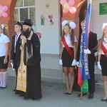 Сященослужитель посетил торжественную линейку в школе № 46 х. Нещадимовского