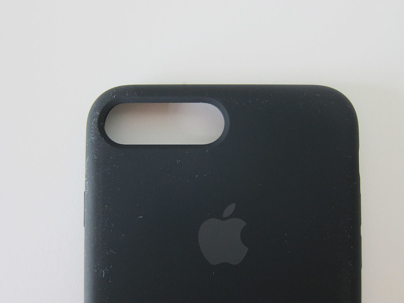 Apple iPhone 7 Plus Silicone Case (Black) - Camera Cut Out