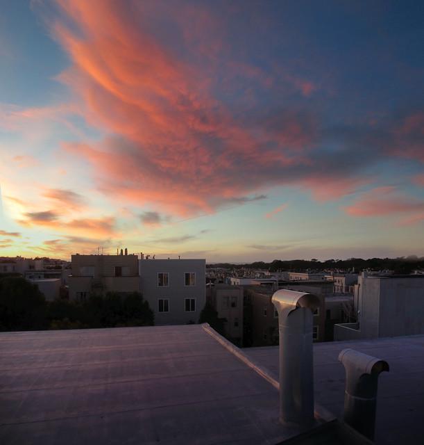 Sunset in San Francisco.  December 7, 2012