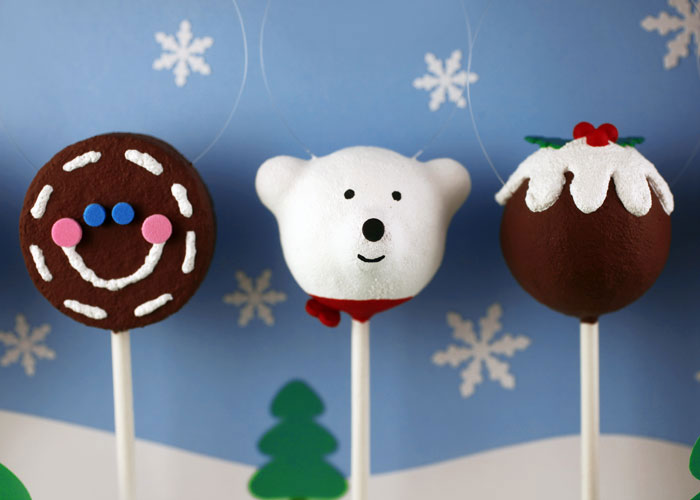 Cake ball christmas ornament